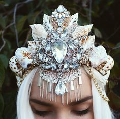 Mermaid crown by Chelseasflowercrowns on Etsy