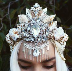Mermaid crown by Chelseasflowercrowns on Etsy