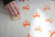 Muy cuqui: DIY: Mantel estampado de zorro