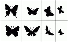 Assorted Butterflies stencil from The Stencil Library ANIMALS & BIRDS range. Stencil Patterns, Stencil Designs, Painting Patterns, New Years Eve Nyc, Diy Paper, Paper Art, Butterfly Stencil, Stencils Online, Rose Decor