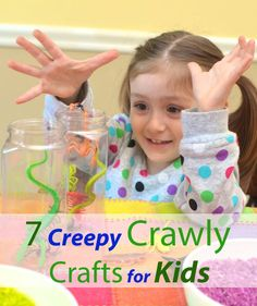 7 creepy crawly crafts for kids -- variety of bug themed crafts to celebrate Spring
