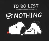 Snoopy to do list