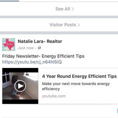 Friday Newsletter-Keep your  Energy Efficient throughout the year with these simple tips https://youtu.be/cj_n64hl5IQ @kellerwilliamsrealty