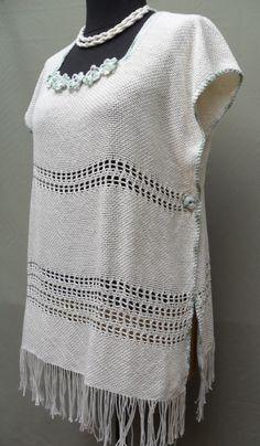 Crochet Poncho, Lace Knitting, Knitting Stitches, Knitting Patterns, Tapestry Weaving, Loom Weaving, Hand Weaving, Basket Weaving Patterns, Tapestry Design