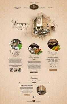 Ciro's restaurant webdesign