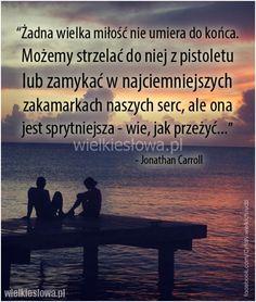 Żadna wielka miłość nie umiera do końca... #Carroll-Jonathan,  #Miłość