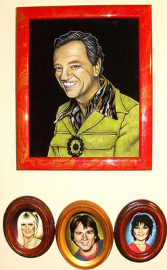 "Three's Company velvet paintings.  So rad. ""come and knock on their door. they'll be waiting for you"""