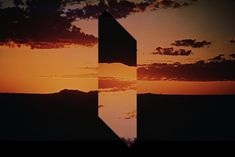 Landscapes distorcidos com fragmentos geométricos por Reynald Drouhin