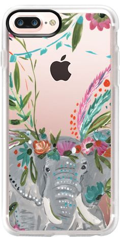 Casetify iPhone 7 Plus Case and other Boho Jungle iPhone Covers - Boho Elephant by Bari J. Designs   Casetify