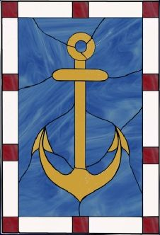 Stained Gl Windows Mosaics And Gifts With A Nautical Theme