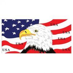 American Flag & Eagle Beach Towel