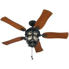 Harbor Breeze Lake Placido Black LED Indoor/Outdoor Ceiling Fan with Light Kit at Lowe's. A Lake Placido Ceiling Fan with 5 Reversible Blades, Black Iron Finish, 3 Speed Pull Chain Control, Damp Location, LED Bulbs Low Ceiling Fans, Vintage Ceiling Fans, 52 Ceiling Fan, Outdoor Ceiling Fans, Flush Mount Ceiling Fan, Light Bulb Bases, Black Glass, Indoor Outdoor, Outdoor Spaces