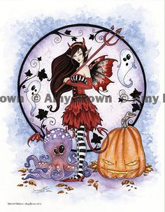 Halloween Mischief Makers Fairy print by Amy Brown. $14.00, via Etsy.