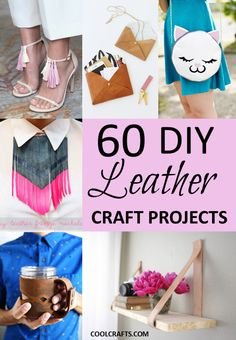 It is truly amazing some of things that you can make out of leather. Here are 60 leather craft ideas that will keep you crafting for a long time.