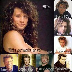 Jon Bon Jovi through the years