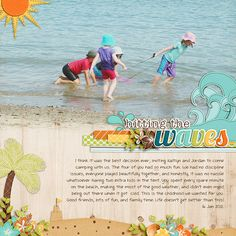 Summertime Fun - Hitting the Waves by Jady Day Studio  DJB font: Sandra Dee by Darcy Baldwin