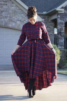 Annabel Highlow Plaid Dress