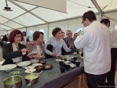 Showcooking de Marcos Morán en la primera edición del Festival de la ostra de Castropol . #Ostras #oyster #festivaldelaostradecastropol