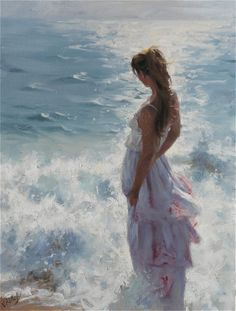 VICENTE ROMERO REDONDO is a Spanish artist who is known for amazing female pastel paintings. He was born in Madrid in 1956. He was much interested to draw caricatures during his school time. His family thought Vicente would be an artist. He started his early years in sculpture and later turned into painting. He believed that only painting could express true emotions.