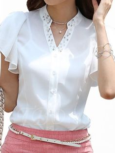 Couture, White Shirts, Sweater Shirt, Modern Fashion, Dress Making, Blouse Designs, Summer Outfits, Summer Clothes, Nice Dresses