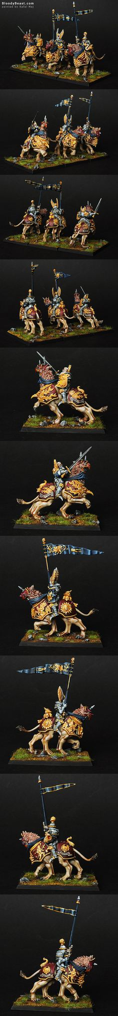 Visit the post for more. Warhammer Empire, Warhammer Fantasy, Warhammer 40k Miniatures, Wonders Of The World, War Hammer, Knights, Panther, Badass, Cities