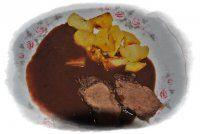 RECEPTY ZVĚŘINA Stew, Pudding, Meat, Desserts, Tailgate Desserts, Deserts, Custard Pudding, Puddings, Postres