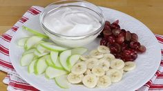 Any fruit can be dunked into this American, no-cook yogurt dip recipe from the American Heart Association's Simple Cooking with Heart program.