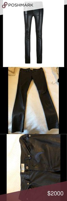 Saint Laurent Women's Black Leather Pants 100% Leather black pants. Like new, hardly worn. Size 40/US 8 Saint Laurent Pants Trousers