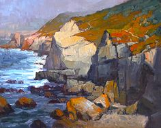 Garrapata Cliffs by Jim Wodark Oil ~ 24 x 30