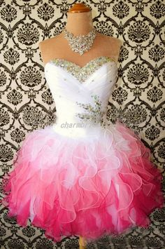 White pink homecoming dress / Multi-Color Short Mini corset prom dress / sweetheart neck cocktail dress / ball gown custom color and size on Etsy, $99.00