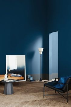 With Jotun's blue beautiful walls. Coral Pantone, Pantone 2020, Pantone Color, Interior Modern, Interior And Exterior, Interior Design, Blue Photography, Sico, Jotun Lady
