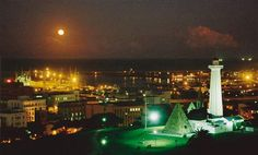 Port Elizabeth Harbor at night