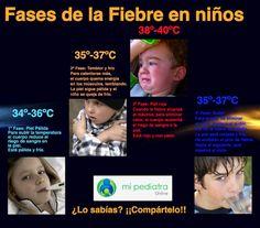 Fases de la fiebre en niños