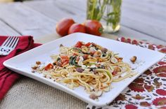 Brown butter pasta.  Quick and sounds really yummy.