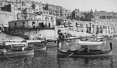Memories of Malta in the 1930's A wonderful view of the Valletta Fish Market seen from the landing stage in The Grand Harbour.