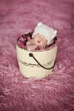 Inspiration For New Born Baby Photography : SUPeR SiZED Bubble Gum Pink Fur Nests Photo Prop 62 x 72