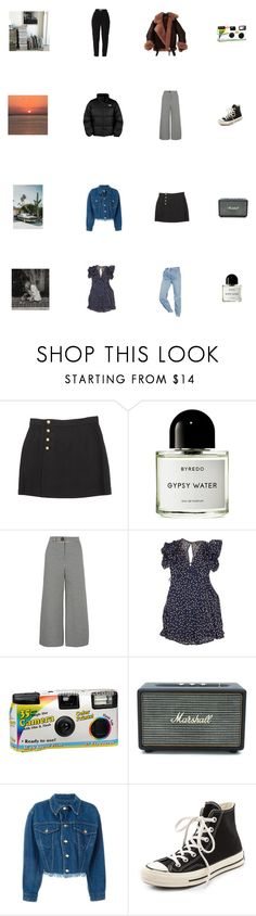 """""""current wishlist"""" by danamaybe ❤ liked on Polyvore featuring 3.1 Phillip Lim, Byredo, A.W.A.K.E., Topshop, Urban Outfitters, Jean-Paul Gaultier, The North Face, Converse and GET LOST"""