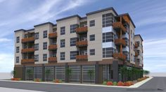 retail and residential projects - Google Search Mixed Use Development, Apartment Complexes, Design Ideas, Design Inspiration, Exterior Paint, Apartments, Architecture Design, Multi Story Building, Commercial