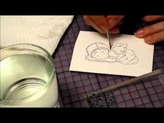 Distress Ink Colouring Video - part 1