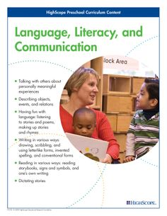 Language, Literacy, and Communication - HighScope Preschool Curriculum Content