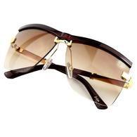 Designer 2017 New Fashion Semi-Rimless Frame Business Sunglasses 6 Colors UV400-Click Happy Products