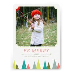 Festive Forest Holiday Photo Cards by Origami Prints