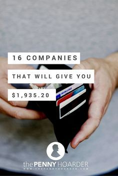 Who says there's no such thing as a free lunch? http://www.thepennyhoarder.com/how-to-get-free-money-these-16-companies-are-giving-away-1660-25/