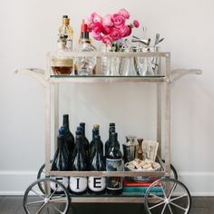 Tips for incorporating a bar cart into your home in a beautiful and functional way.