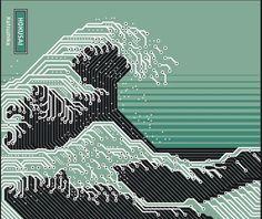 Katsushika Hokusai Electronic Circuit Board