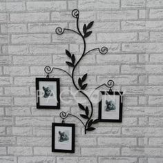 Old Frames Iron Art Wall Mirrors Décor Photo Wrought Metal Working Home And Garden Hooks
