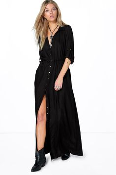 Full-on fashion starts with a floor-sweeping maxi dress  Move over minis, we're all about entrance-making maxi dresses this season. The seasonless style looks effortless for every day in easy-to-wear jersey, toughened up with tread boots. Upgrade for nights out with a figure-skimming fit and thigh high split and take this slinky dress to the dance floor.