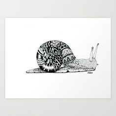 snail Art Print by Travis_50142 - $18.00