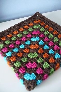 Love the colors in this baby blanket