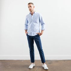 Elk Head Clothing's tailored blue oxford.